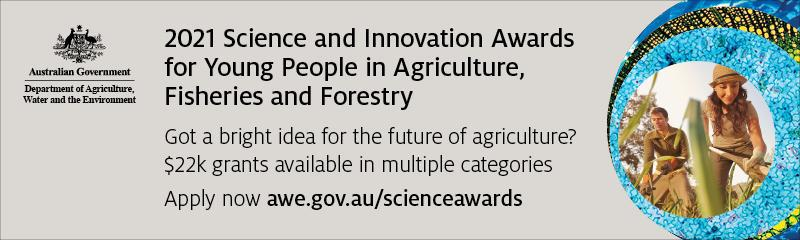 2021 Science and Innovation Awards for Young People in Agriculture, Fisheries and Forestry