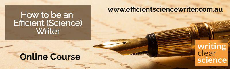 Online Course - How to be an Efficient (Science) Writer