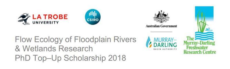 Flow Ecology of Floodplain Rivers  & Wetlands Research  PhD Top–Up Scholarship 2018